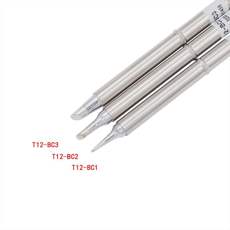 T12-C T12-C4 T12-BC2 T12-BC1 T12-BC2 T12-BC3 T12-BCF punta de hierro de soldadura de T12 serie para soldadura Hakko Estación de Reparación FX-951 FX-952