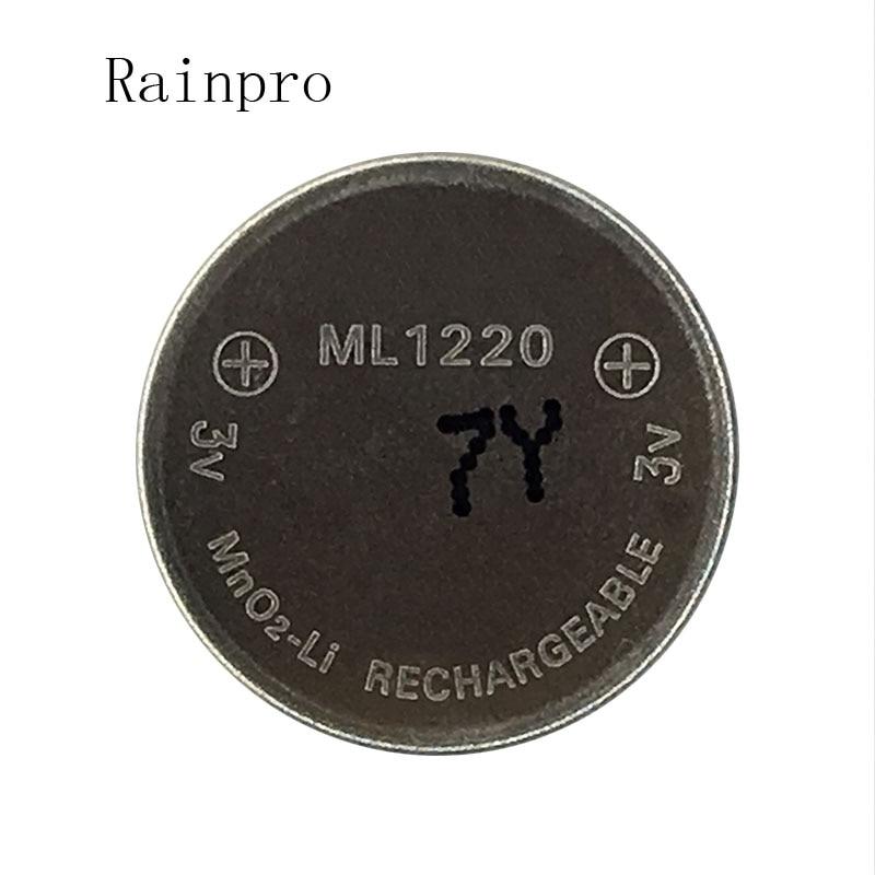 Rainpro 4PCS/LOT 3v Li-ion battery ml1220 1220 rechargeable Battery 3V coin cell battery