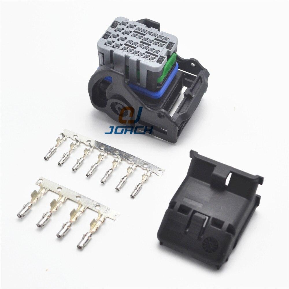 Envío gratis 1set 32pin de molex cableado conector de clavija cable conectores ECU 64319-1211 con crimpiung terminales