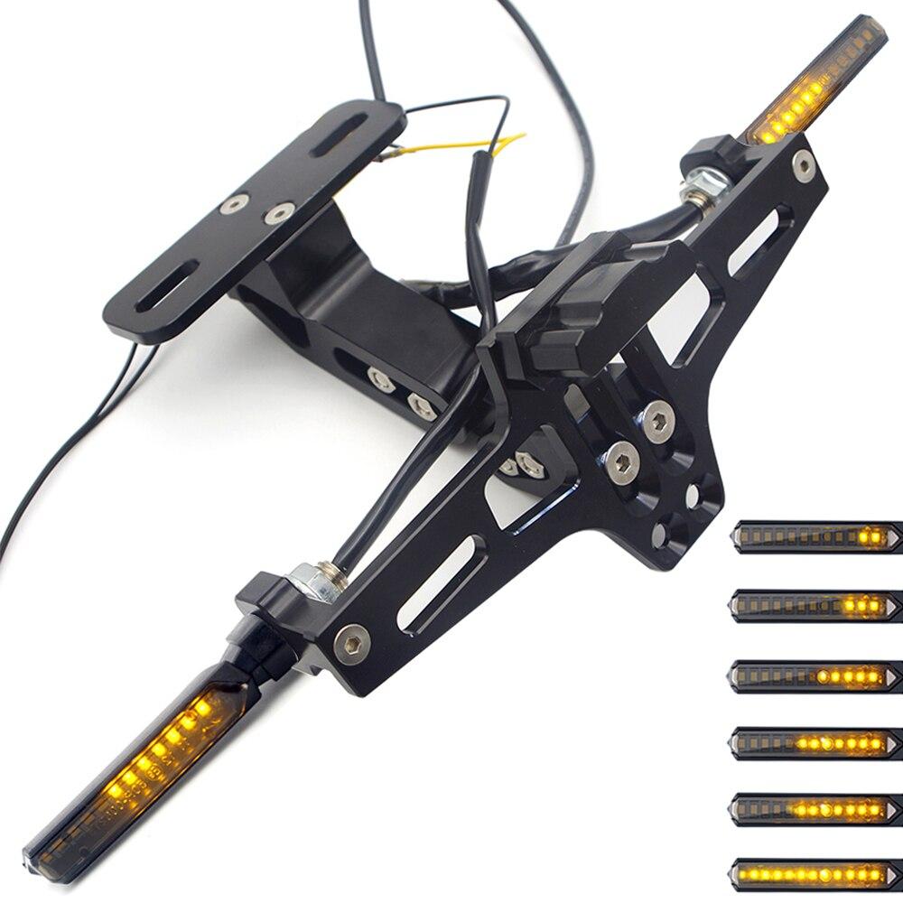 Fundas de soporte de matrícula para yamaha fjr1300 honda nc750x, accesorios suzuki dl 1000 v-strom benelli 302 para honda hornet