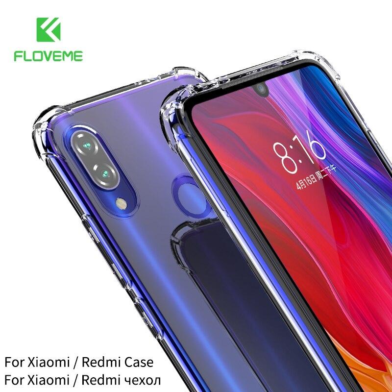 Funda FLOVEME para Redmi Note 7 Funda transparente suave TPU Funda para Xiaomi mi 9 T Red mi k20 Pro Xio mi 9 8 SE a prueba de golpes a prueba funda xiaomi redmi note 7