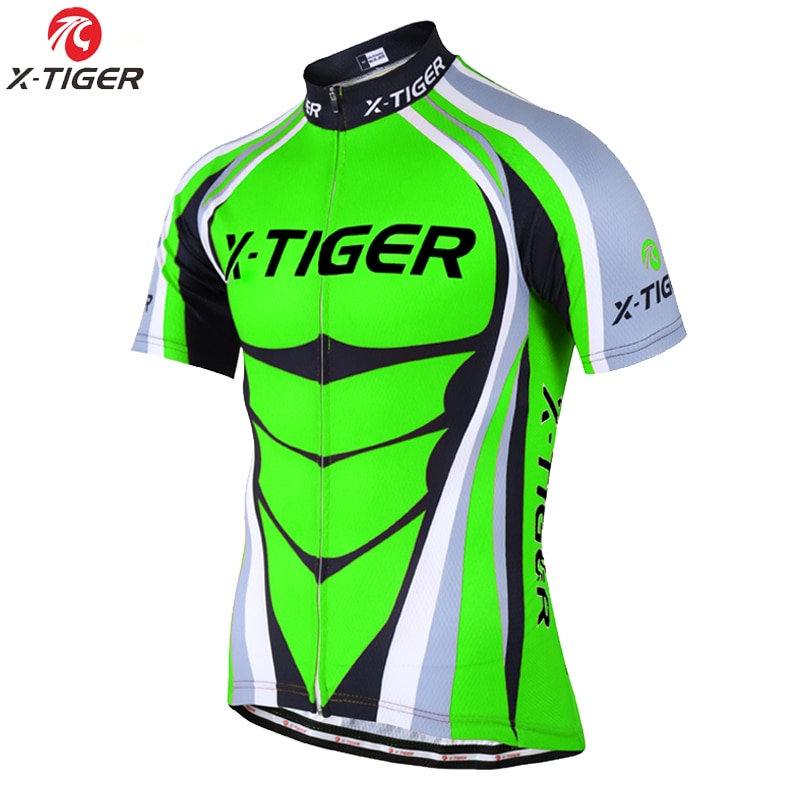 X-TIGER 2020 camisetas de ciclismo profesional harina verde verano bicicleta de secado rápido ropa de ciclismo transpirable ropa de bicicleta uniforme para hombre