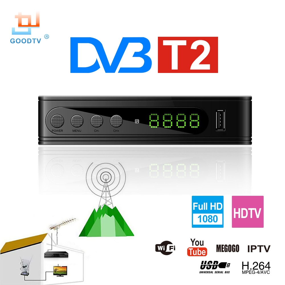 Умная ТВ-приставка U2C DVB-T HDMI DVB-T2 T2 STB H.264 HD, цифровая телеприставка, ресивер DVB T/T2, телеприставка, бесплатное ТВ, Россия