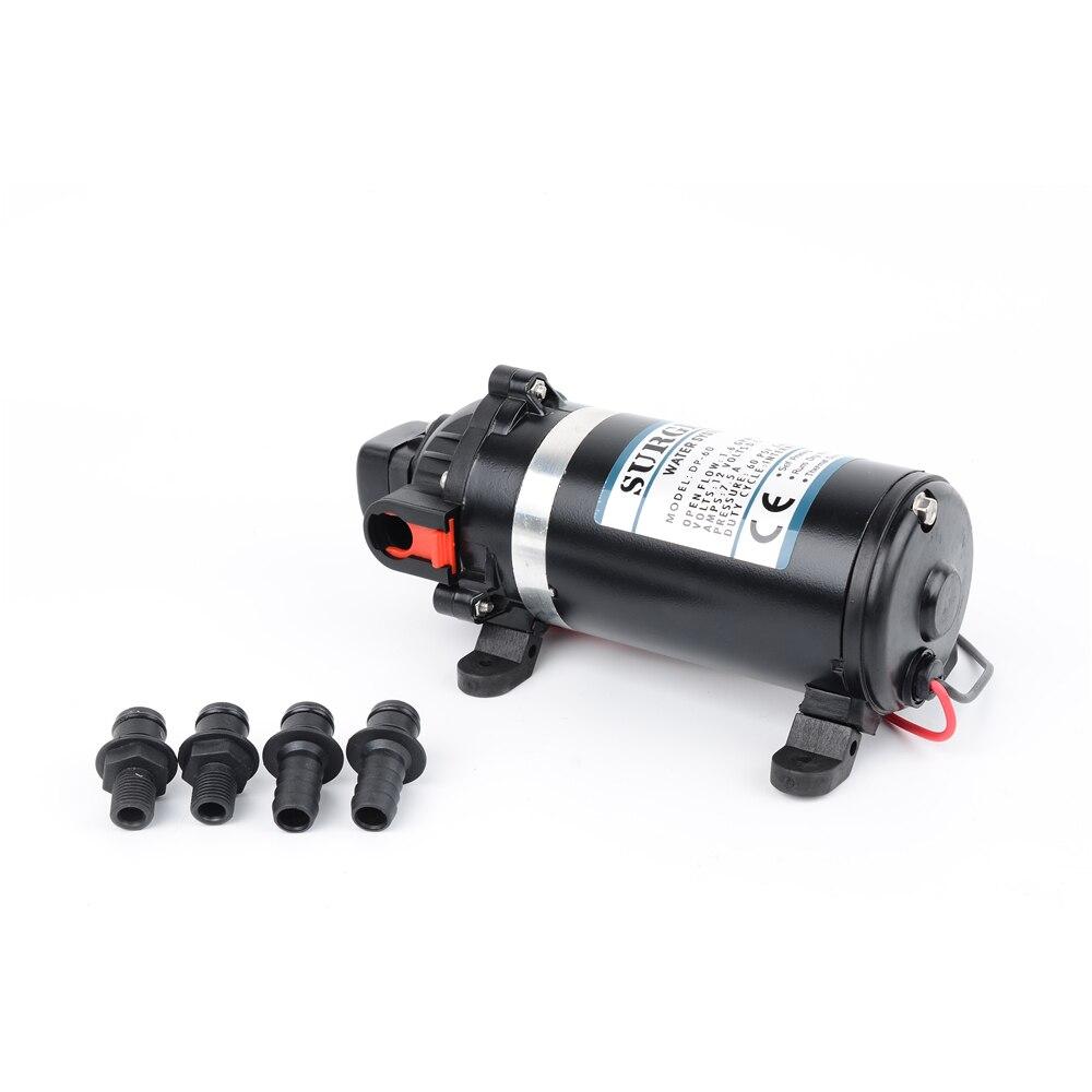 Bomba de diafragma eléctrica portátil de alta presión, de 126W, 160PSI, 11Bar, elevador, 9,5 m, 12V/24V, DP-160 para el hogar