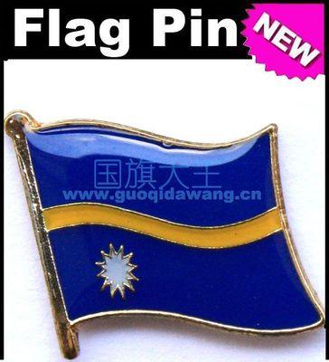 Flaga narodowa metalowa wpinka do klapy flaga Pin Nauru