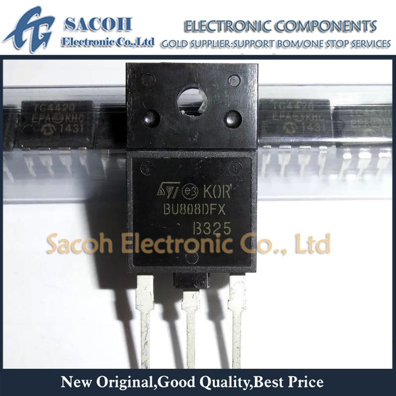 New Original 10PCS/Lot BU808DFX BU808DFI BU808DF BU808 TO-3PF 8A 1400V NPN POWER DARLINGTON TRANSISTOR