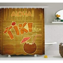 Vixm-rideau de douche de Bar   Rideau de douche décoratif de Bar Tiki mural avec style, rideau de bain en tissu Hibiscus Aloha