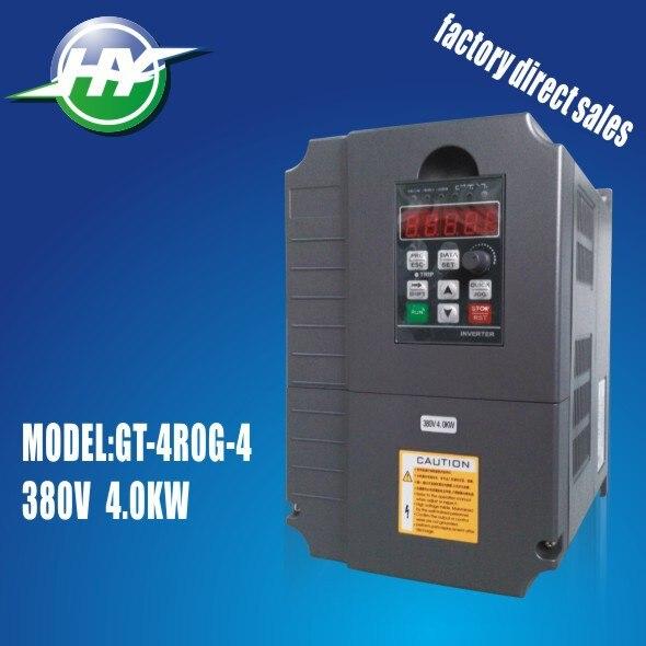 Huanyang 380V husillo de motor variable convertidor frecuencia VFD de control de vectores de inversor 4kw