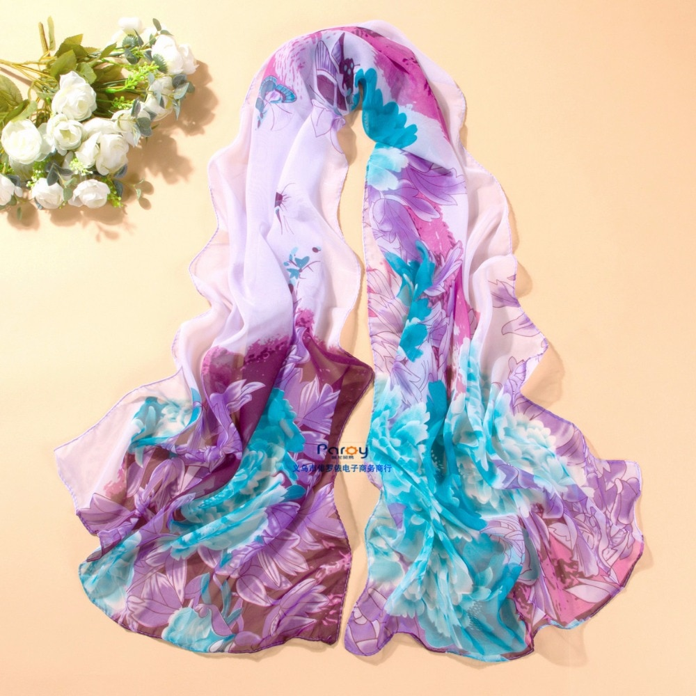 Фото - new arrival 2018 spring and autumn chiffon women scarf Print geometric pattern design long soft silk shawl geometric spring