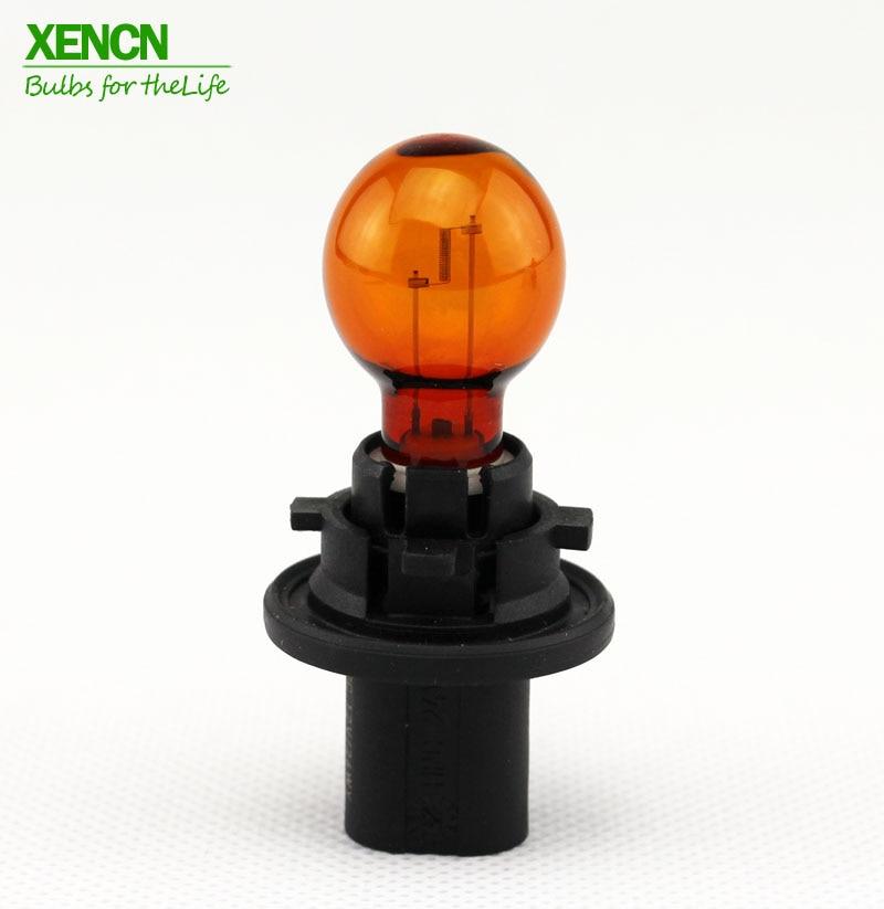 Лампа для автомобиля XENCN 12272NA PH24WY, 12 В 24 Вт, PU20d-6, янтарный цвет, 1 шт., для Porsche