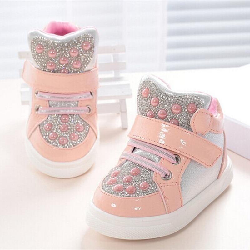 Koovan crianças tênis 2018 nova moda botas strass para 1-3years babys crianças meninos meninas macio fundo causal sapato