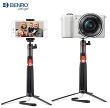 Benro SC1 fibre de carbone mini trépied selfie bâton + Bluetooth sans fil pour smartphone Gopro Action caméra douce 3 4