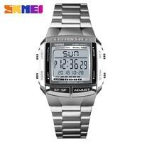 SKMEI спортивные военные часы электронные мужские часы от топ бренда, Роскошные мужские часы Водонепроницаемый светодиодный цифровые часы ...