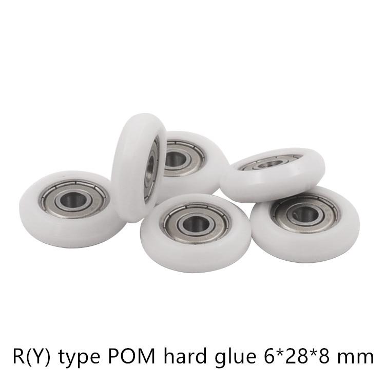 POM Nylon kunststoff pulley für DIY 3D drucker gravur maschine lager 625ZZ 626ZZ R (Y) typ rad EU 2020 aluminium profil