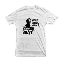 Mâchoires t-shirt 2019 homme   Eventail de film bateau-film en coton de Style estival