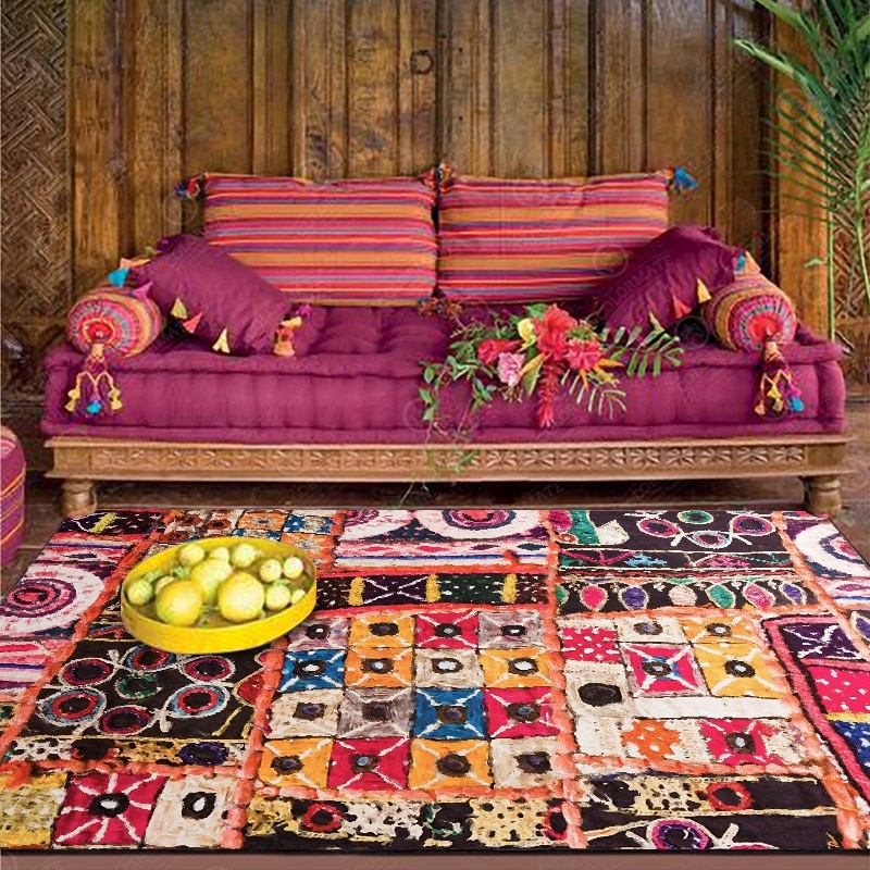 Luxury Living Room Large Carpet Morocco Style Geometric Area Rugs Bedroom Bedside Anti-Slip Carpets Kitchen Floor Mats Tapete