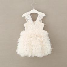 High quality lace girls dress flower kids party dress for weddging Children's princess girl Elegant