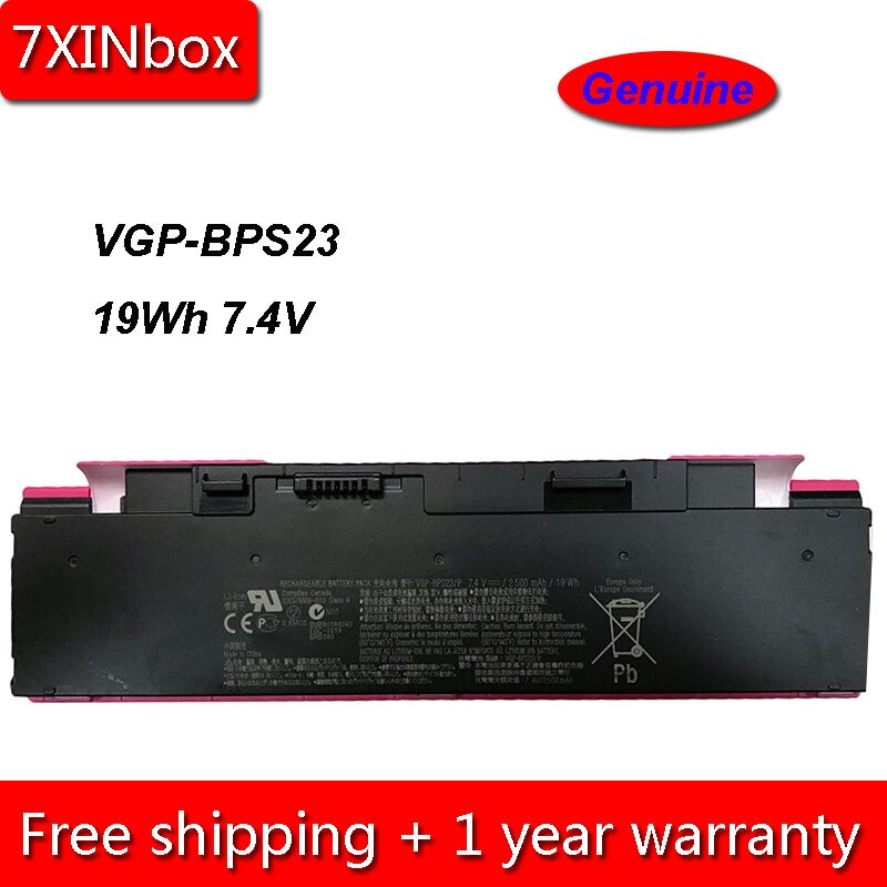 7XINbox 19Wh 2500mAh 7,4 V de VGP-BPS23 VGP-BPL23 VGP-BPS23/W portátil batería para Sony VAIO VPC-P11 VGP-BPS23/G VGP-BPS23/P