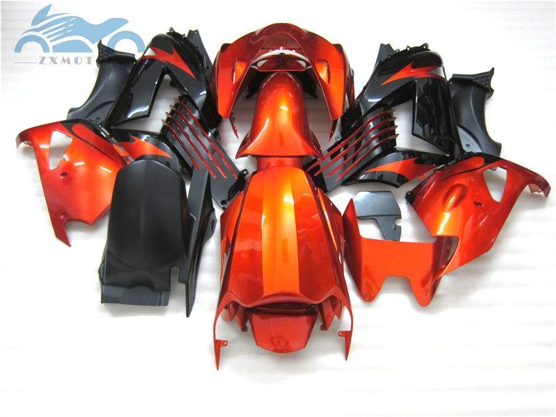Carenados de inyección kit para KAWASAKI Ninja ZX14R 2006, 2007-2011 de la motocicleta carenado para carreras de ZX 14R 06 07 08-11 Rojo Dorado Negro
