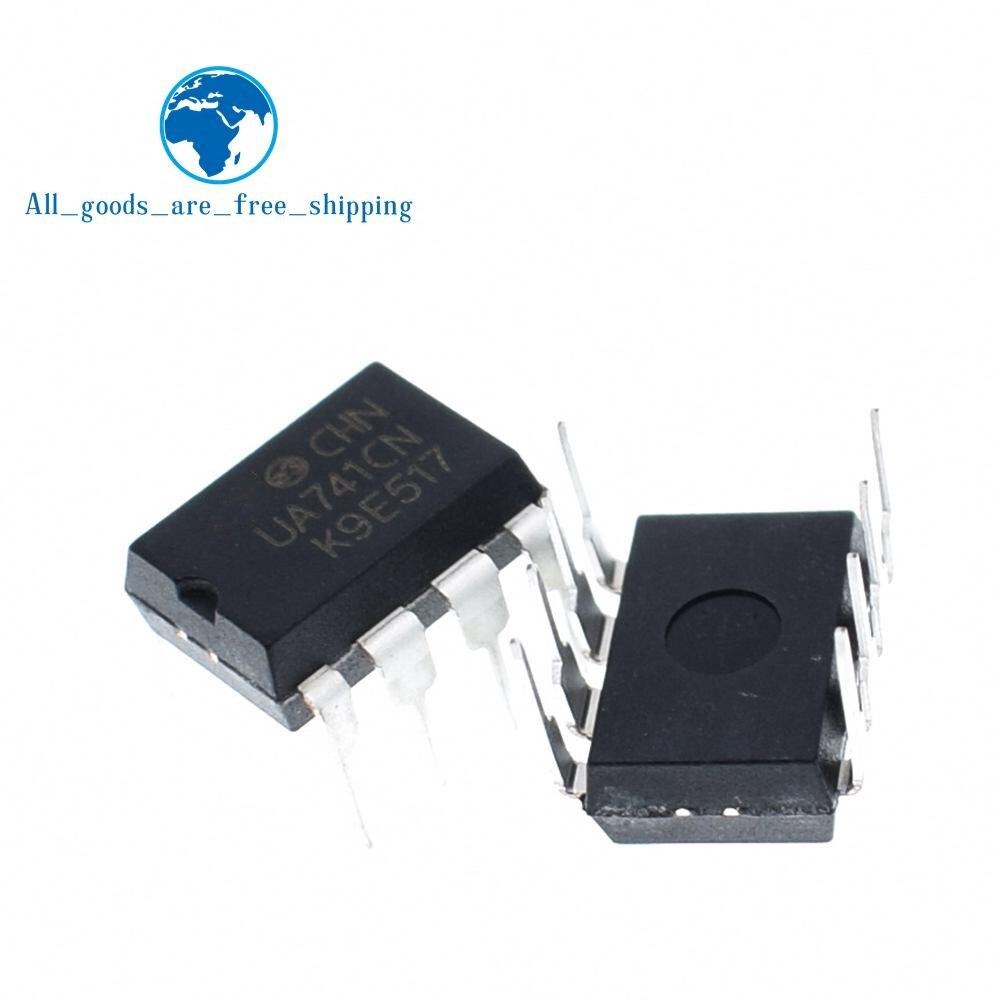 10pcs UA741CN UA741 LM741 op amp compensation type DIP-8