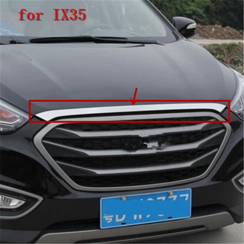 For Hyundai IX35 2010-2015 High-quality ABS Chrome Front Grille Hood Engine Cover Trim Exterior decoration Styling Accessories