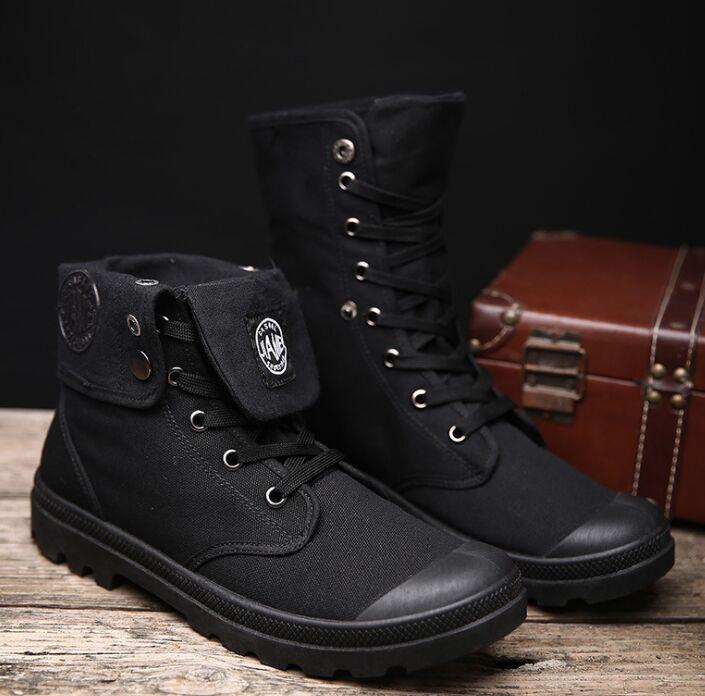 Zapatillas altas de lona a la moda 2019, zapatos informales para hombre, zapatillas planas blancas para mujer, zapatillas de cordones, tallas 39-45