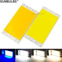 Sumbulbs panel led diy luz 94x50MM 1500LM Ultra luz cálida Natural blanco frío azul DC 12V 15W tablero cob lámpara LED