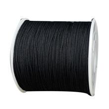 0.4mm Black Rattail Braid Nylon Cord+400m/rolls DIY Jewelry Findings Accessories Macrame Rope  Bracelet Beading Cords
