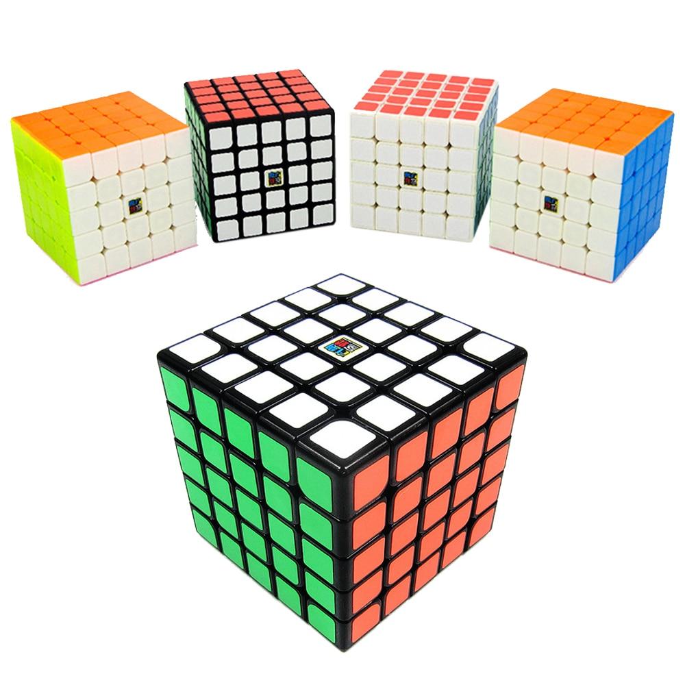 Cubitos mágicos profesionales MF5S de MoYu 5x5 cubos de rompecabezas de velocidad 5*5*5 en 5 capas 6,4 CM Mofangjiaoshi salón de clases Cubing