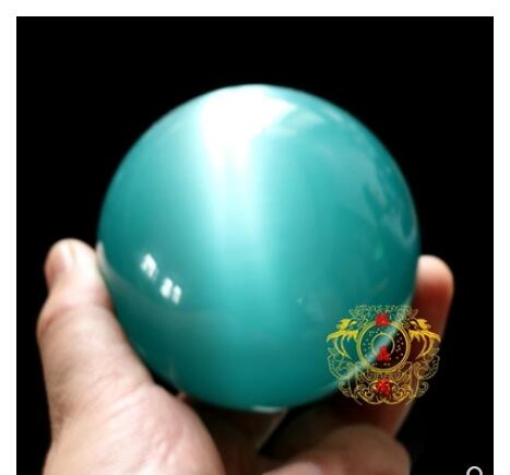 Luz Azul Bola de Cristal Olho De Gato decoração de casa DE CRISTAL DE QUARTZO 40-200 milímetros Mexicano Opal Sphere Crystal Ball pedra + suporte de Pedra