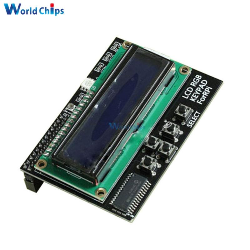 Цифровая плата расширения 1602 16х2 RGB с синей подсветкой и ЖК-дисплеем, плата расширения I2C IIC интерфейс для Raspberry Pi B + B