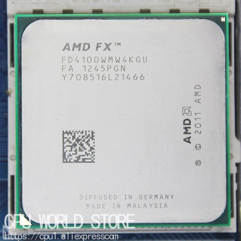 Четырехъядерный процессор AMD FX 4100, процессор AM3 +/8 Мб/95 Вт FX, серийный процессор, рабочий FX-4100