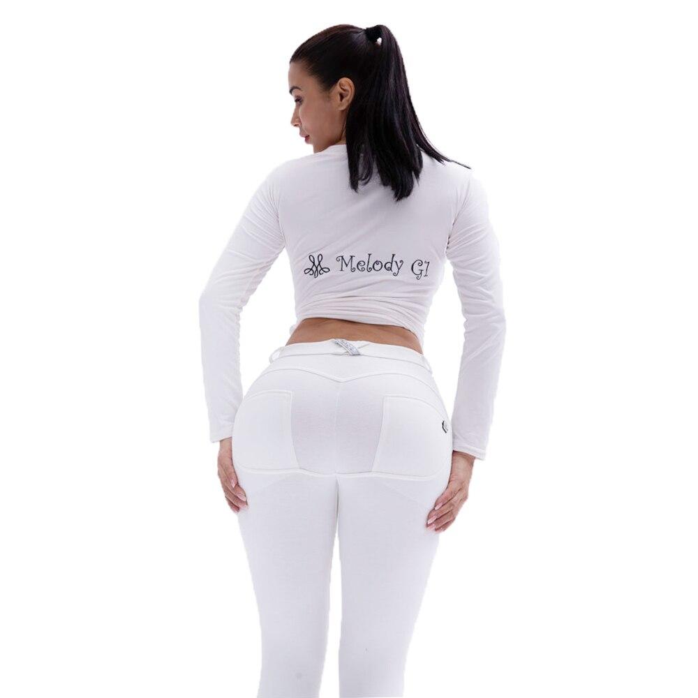 Mallas de punto para mujer, de Melody White, Color XXXL, talla grande, cómodas y Sexy, Leggings Push Up de Spandex, Leggings de entrenamiento de cintura media