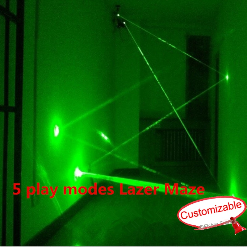 5 play modes  laser array props/multiple play mode laser maze for Chamber of secret room game,team work challenging game enlarge
