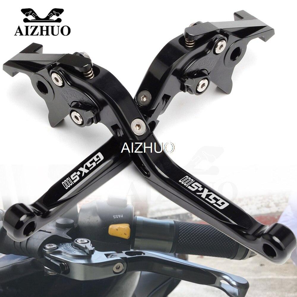 Motocicleta alavanca da embreagem do freio extensíveis alavancas ajustáveis para suzuki GSX-S1000/f/abs gsxs GSX-S gsx s 1000 2015 2016