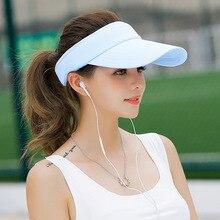 Chapeau à visière pour lété   Chapeau de marque pour femmes, casquettes de Baseball, taille réglable, Viseira bonnets de plage vide, casquette supérieure MZ1740, 2020