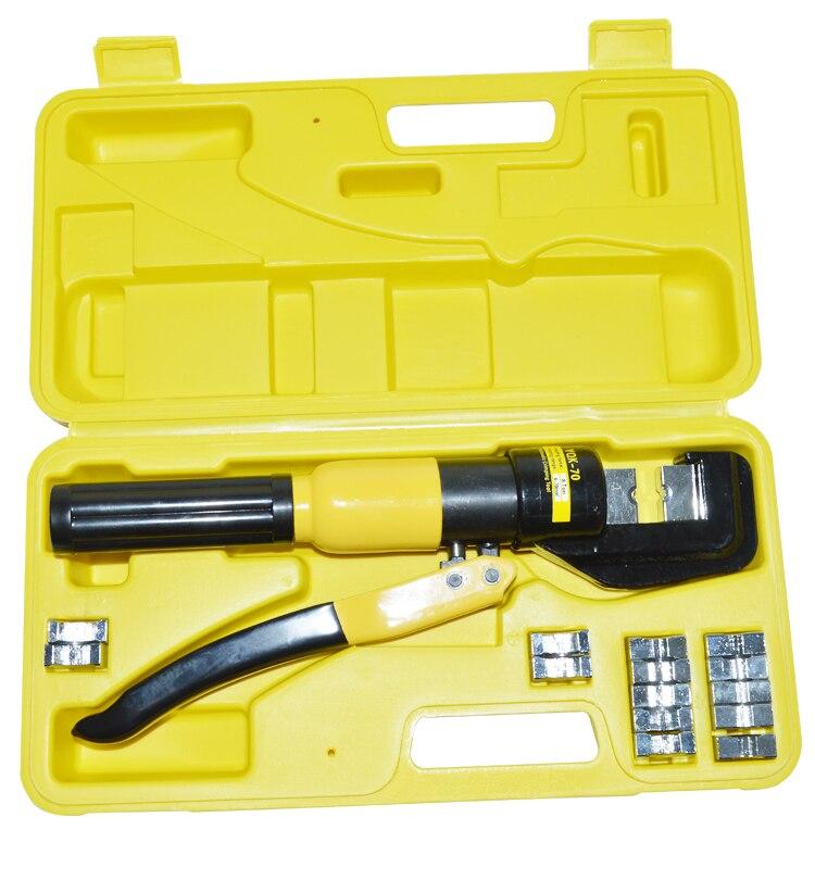 Alicates hidráulicos manuales, 4-70 mm2, alicates de prensa hidráulica, crimpadora hidráulica YQK-70