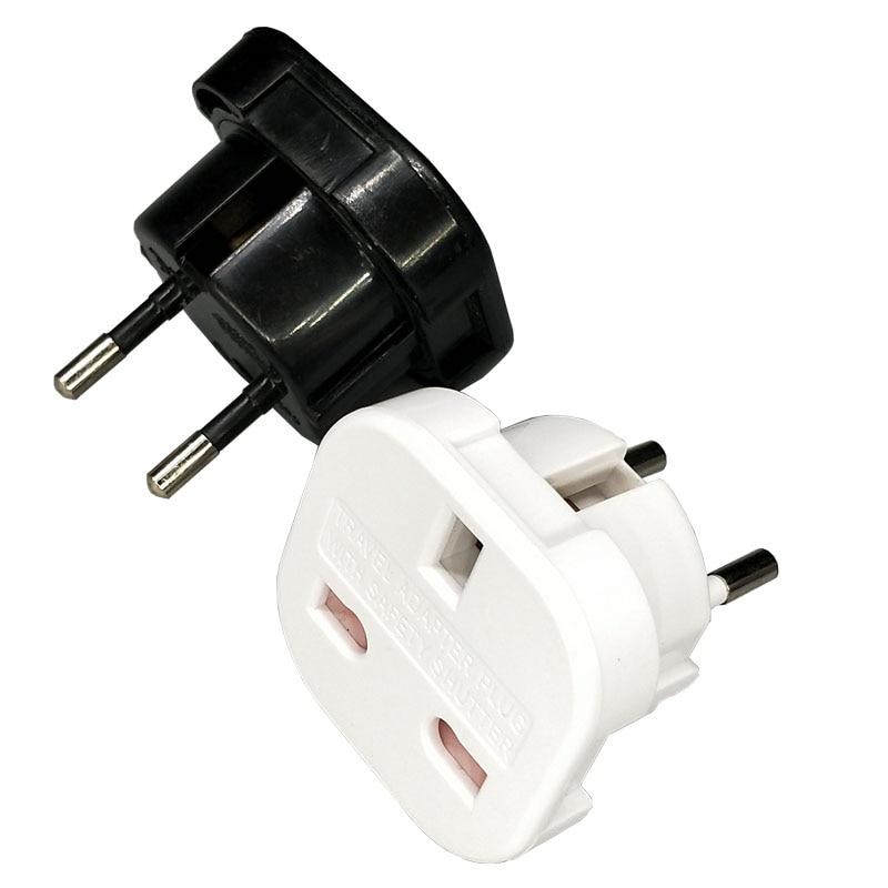 Universal viagem reino unido para a ue euro plug ac carregador de energia adaptador conversor tomada adaptador conector para telefone e almofada