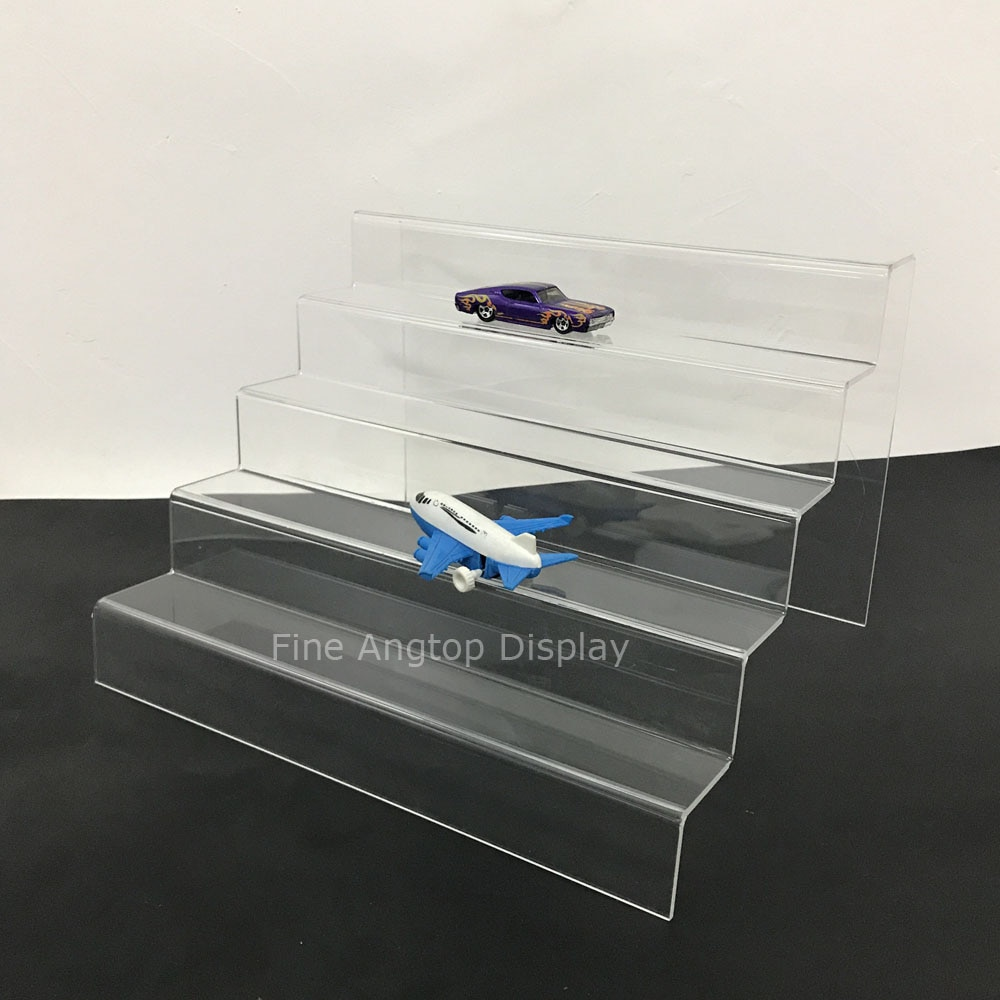 5 Tier Desktop Acrylic Step Display Stand Holder For Small Toys Jewelry