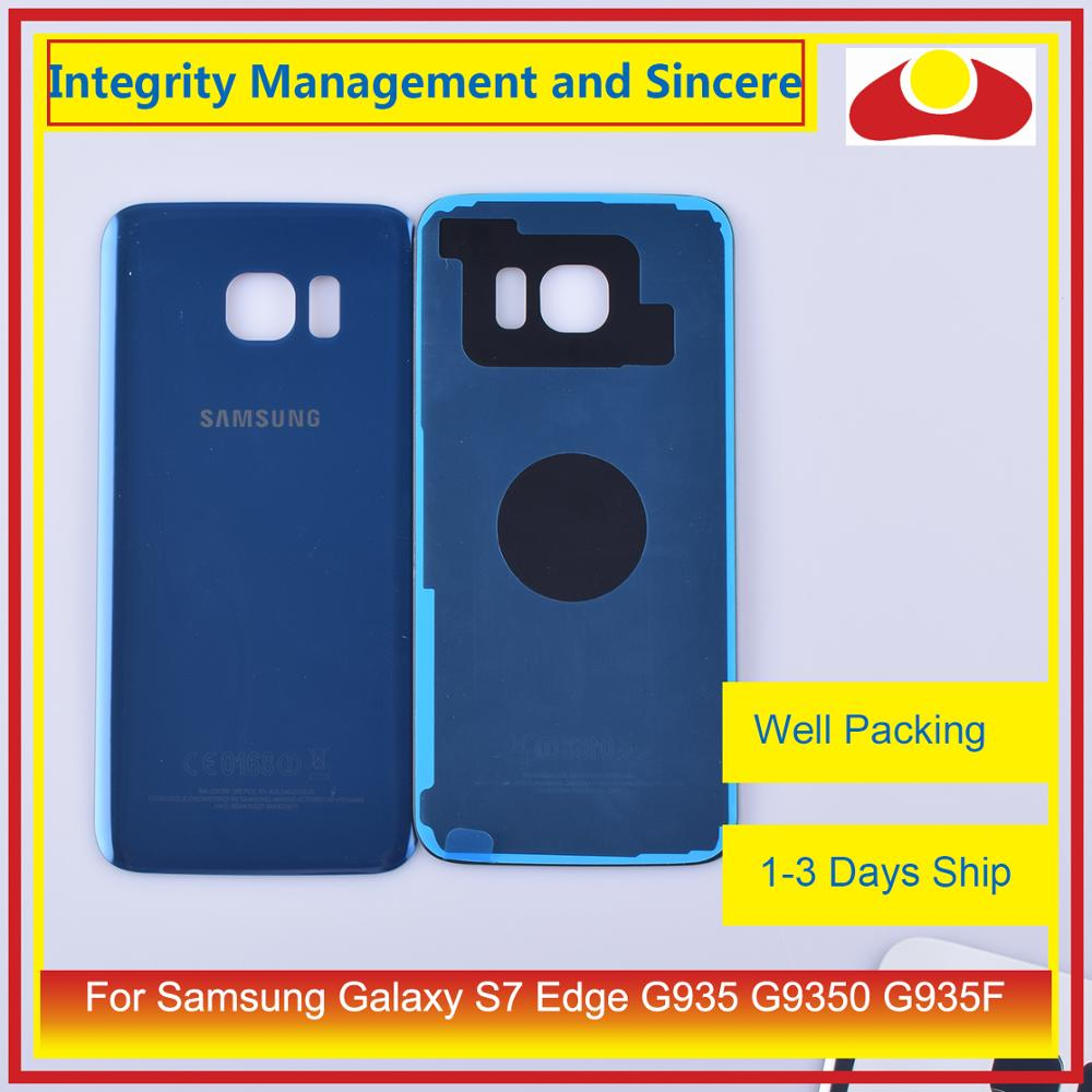 50Pcs/lot For Samsung Galaxy S7 Edge G935 G9350 G935F SM-G935F Housing Battery Door Rear Back Glass Cover Case Chassis Shell enlarge