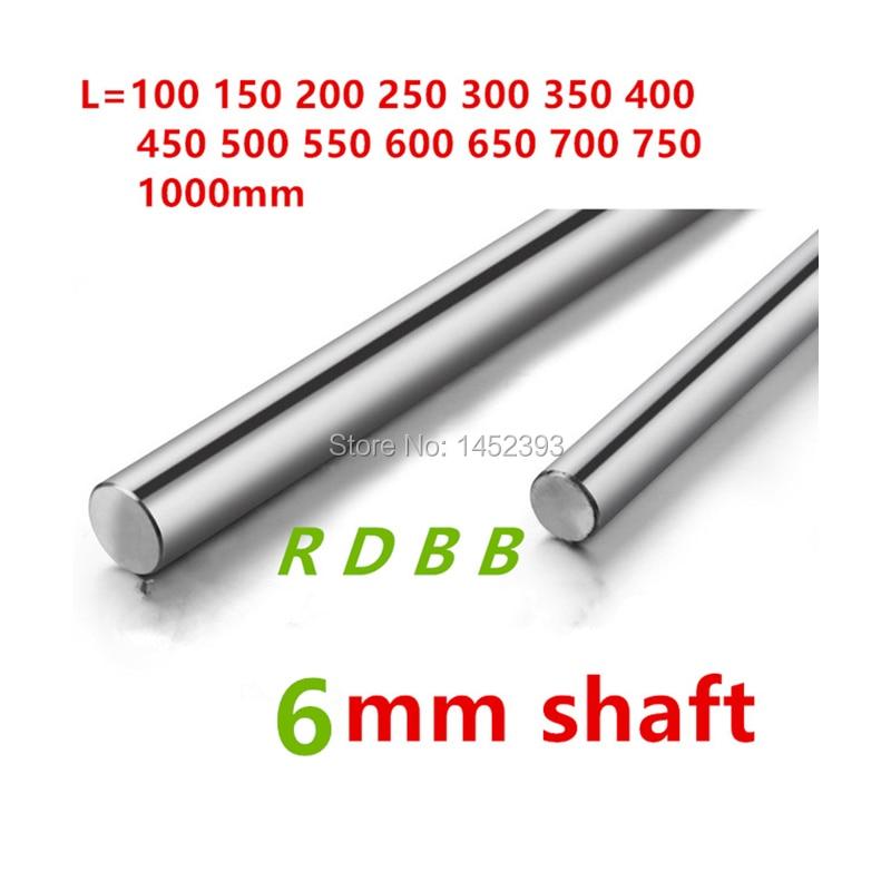 Nuevo 6mm eje lineal 100mm 150mm 200mm 250mm 300mm 350 400mm 500mm endurecida, cromada rod cnc 3d impresora