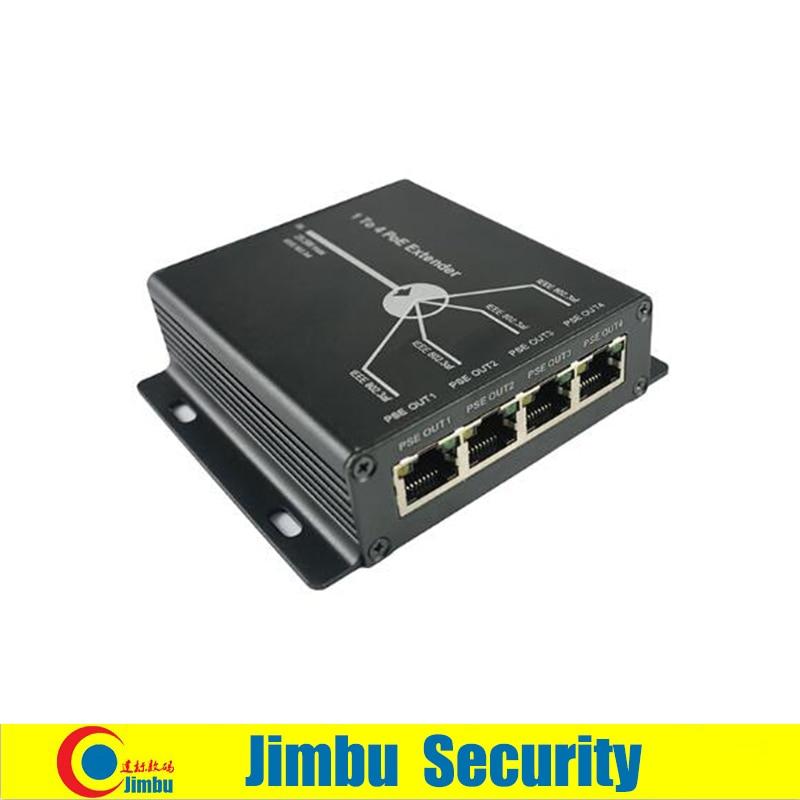 POE Mini extensor de 4 puertos 10/100M 25,5 W Extender 120 metros IEEE802.3af POE red dispositivos Plug-and-Play Sistema de cctv