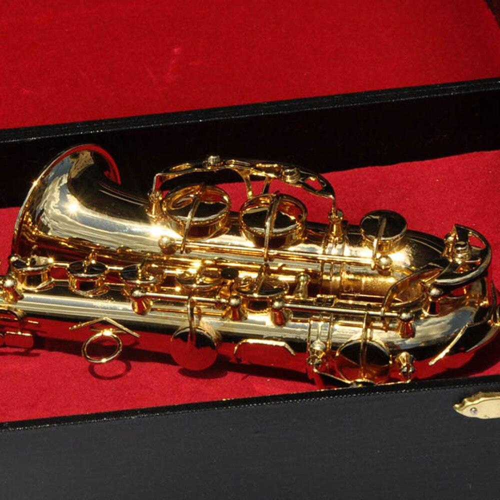 MoonEmbassy Tenor SaxophoneModel Miniature Display Sax Model Realistic Music Lover Birthday Gift Musical Instrument enlarge