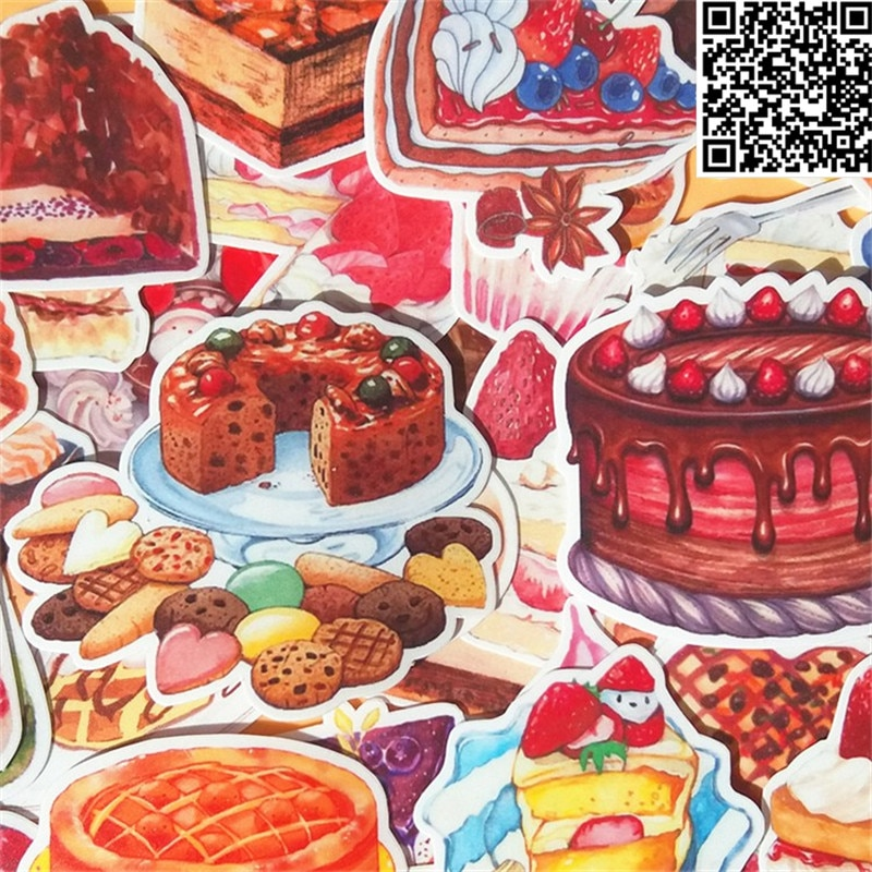 38 Uds Delicious cake Sticker para equipaje monopatín teléfono portátil Moto bicicleta pared guitarra/pegatinas de eason/DIY Scrapbooking