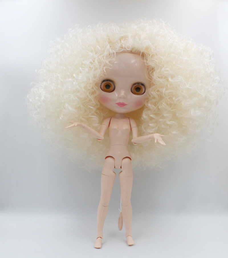 Envío Gratis, gran descuento, RBL-741J DIY, muñeca Blyth desnudo, regalo de cumpleaños para niña, muñeca de ojo grande de 4 colores con hermoso pelo, bonito juguete