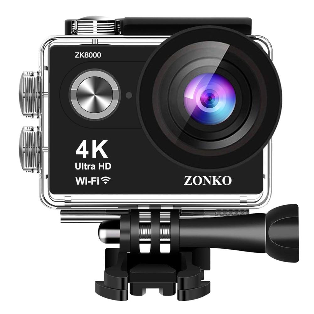 """Cámara de Acción Ultra HD 4 K/25fps WiFi 2,0 """"170D casco impermeable Video grabación cámaras cámara deportiva 19 Accesorios"""