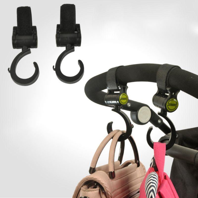 Baby Stroller Hook Multifunctional 360 Basket Strap Bag Hanger Grip Accessories JAN-30