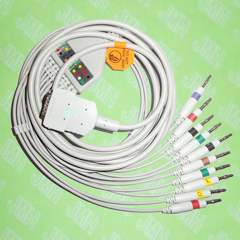 Compatible con Burdick Eclipse y Atria serie EKG 10 plomo, cable de...