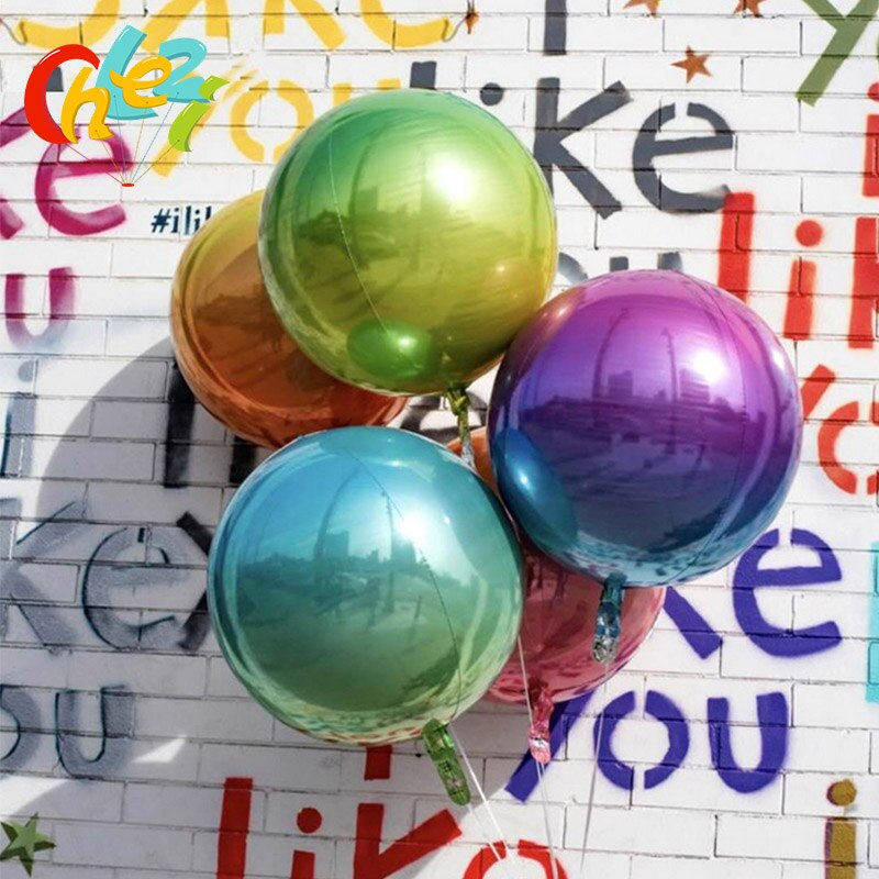 1 uds, nuevo globo de arco iris 4D de Color degradado, decoraciones para fiestas de cumpleaños, globos, 22 pulgadas, accesorios para fotos, juguetes para Baby Shower