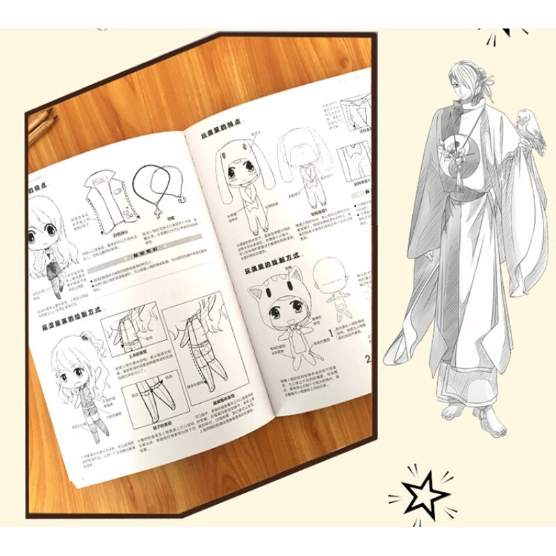 3PCS Drawing Book Cartoon Sketch Adult Coloring Books Easy To Learn The Manga Drawing Techniques Tutorial kids Book Libros enlarge